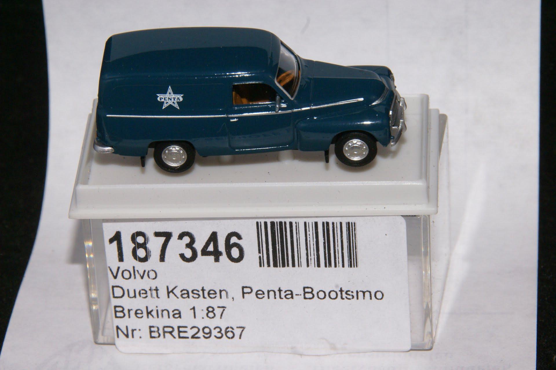 Volvo Duett VAN blauw PENTA Brekina 187346-0