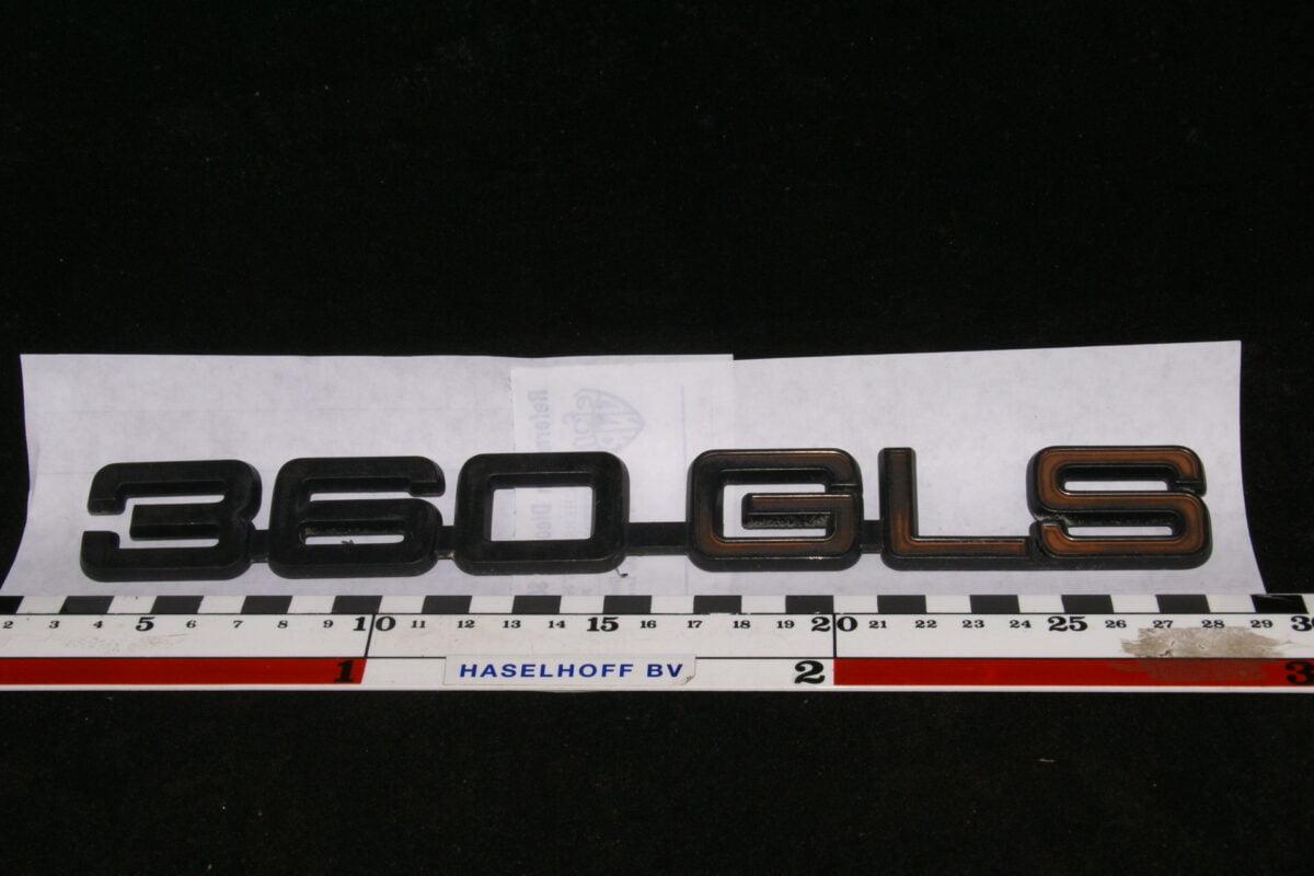 embleem kofferdeksel 360GLS (laat) 141100-0611-0