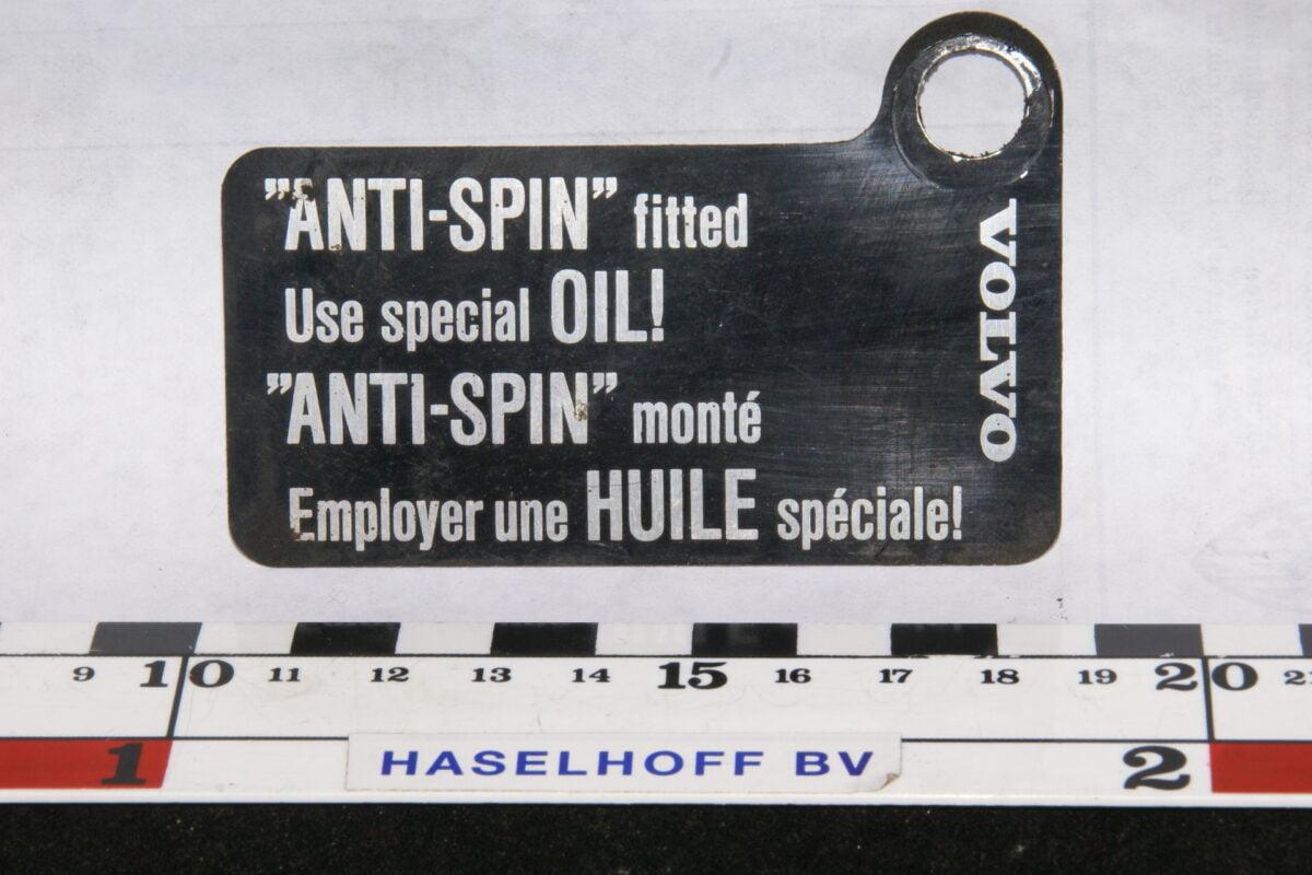 embleem VOLVO ANTI-SPIN 141100-0668-0