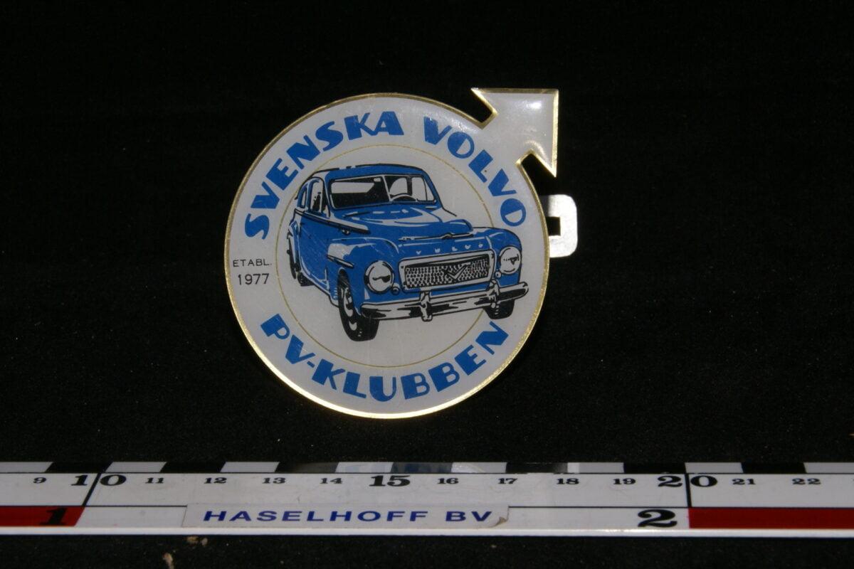 badge SVENSKA VOLVO PV-KLUBBEN 141100-0703-0