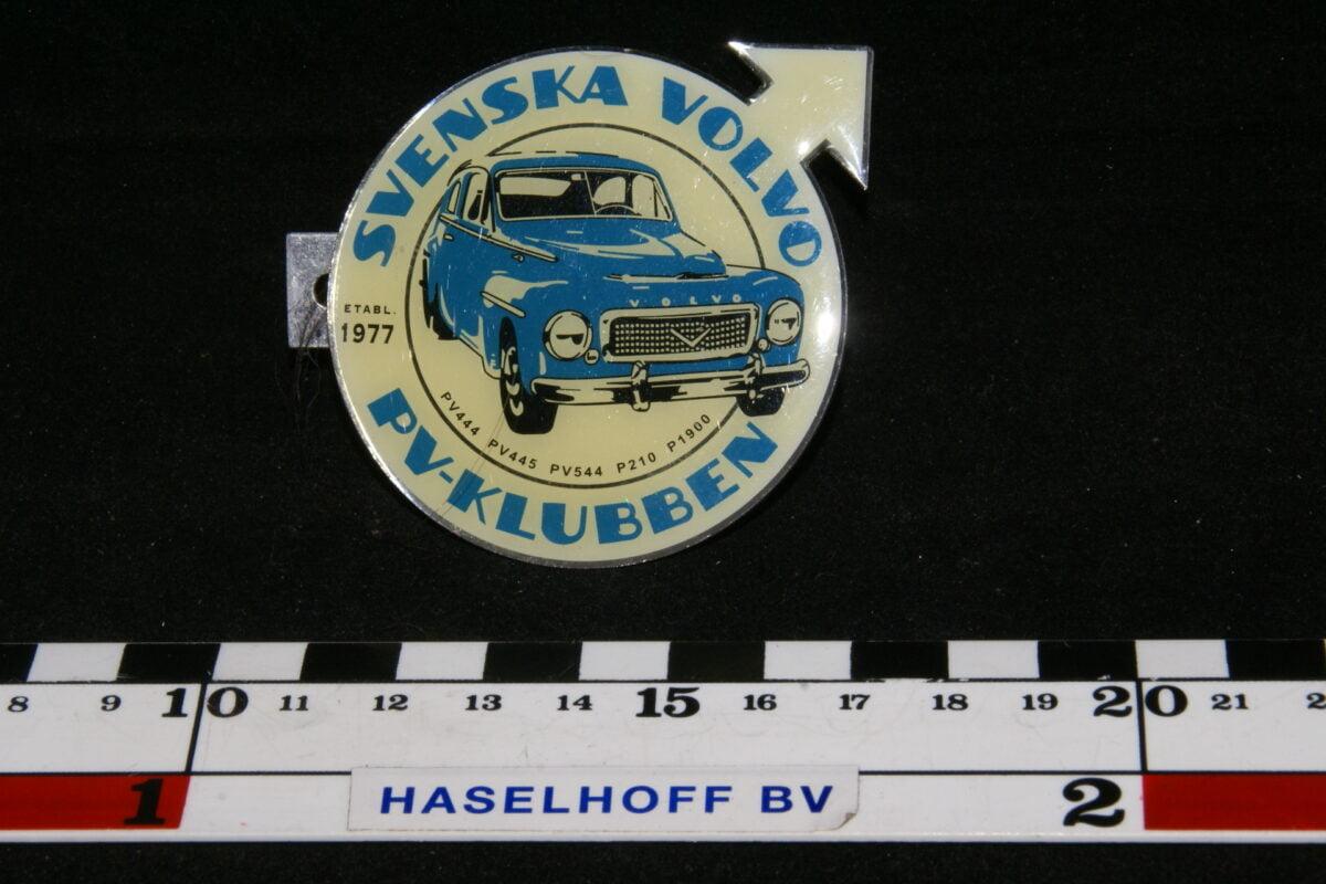badge SVENSKA VOLVO PV-KLUBBEN (met 5 model nrs) 141100-0704-0
