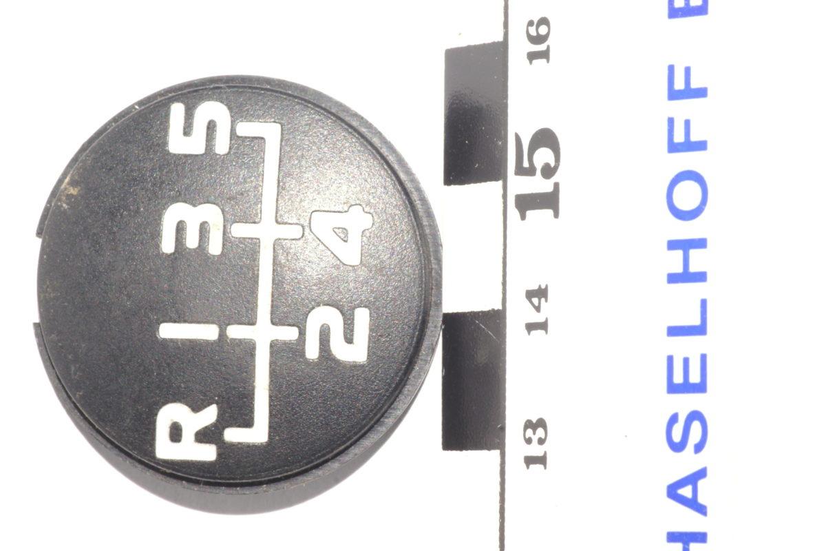 versnellingspookplaatje R 1 2 3 4 5 141100-0758-0
