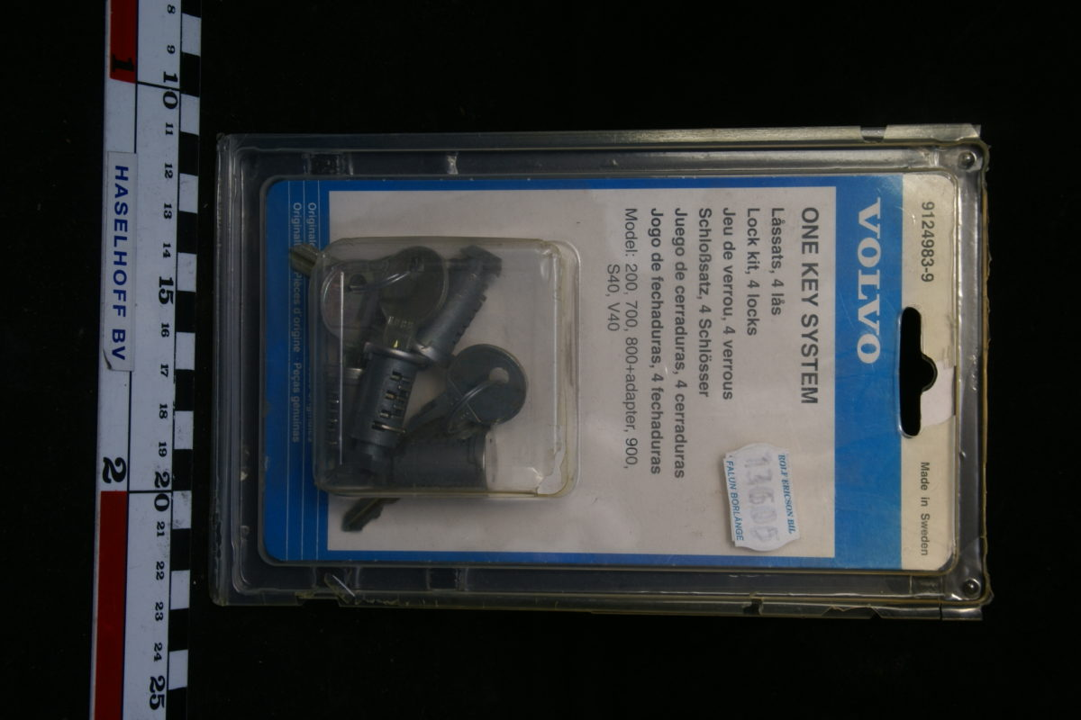 4 x slotcylinder met sleutels (NOS) 160504-4504-0