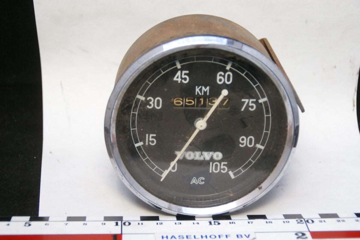 snelheidsmeter kilometerteller ca 80mm Volvo 40'er jaren 160224-3335-0
