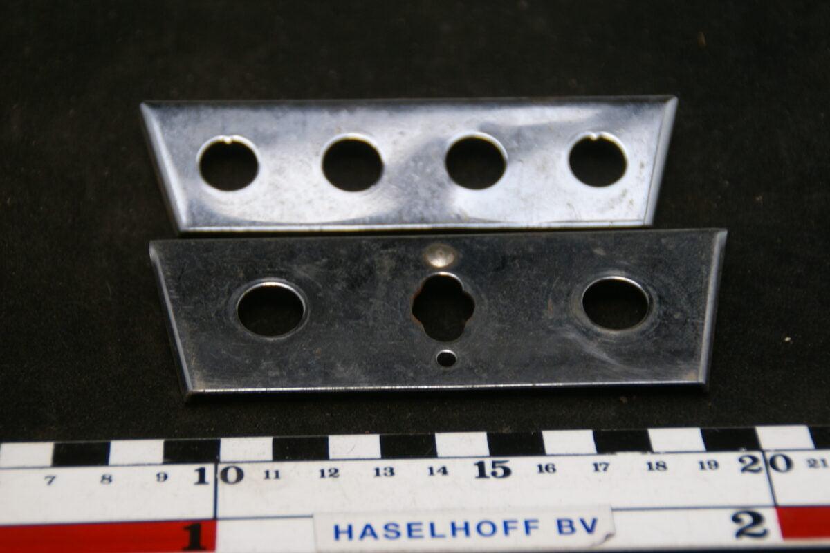 metalen houder voor schakelaars en lampjes 60'er jaren 1602290-3432-0