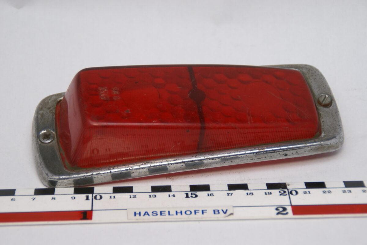 achterlichtglas rood chromen rand 160523-4703-0