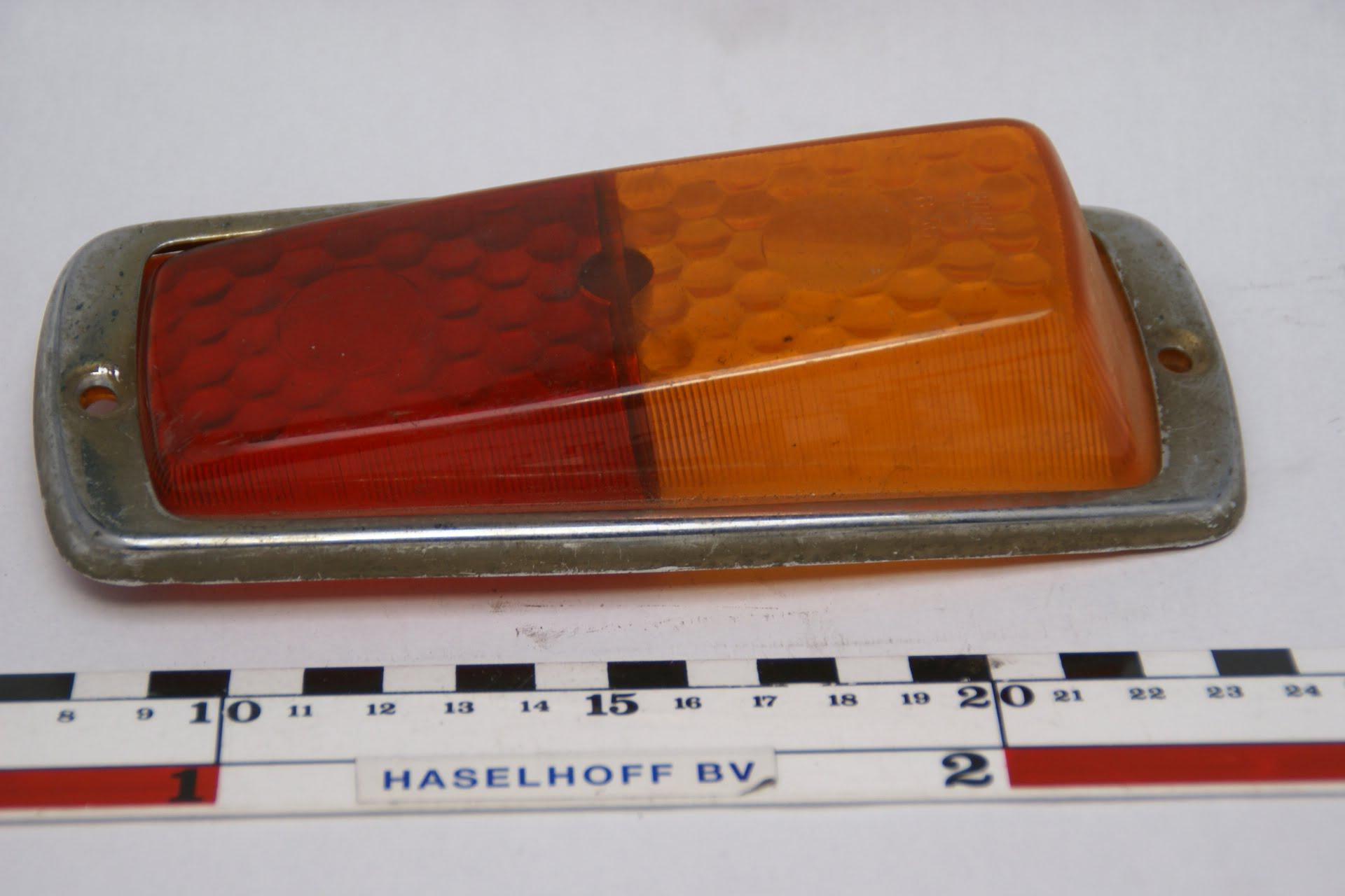 achterlichtglas rood/oranje chromen rand 160523-4704-0