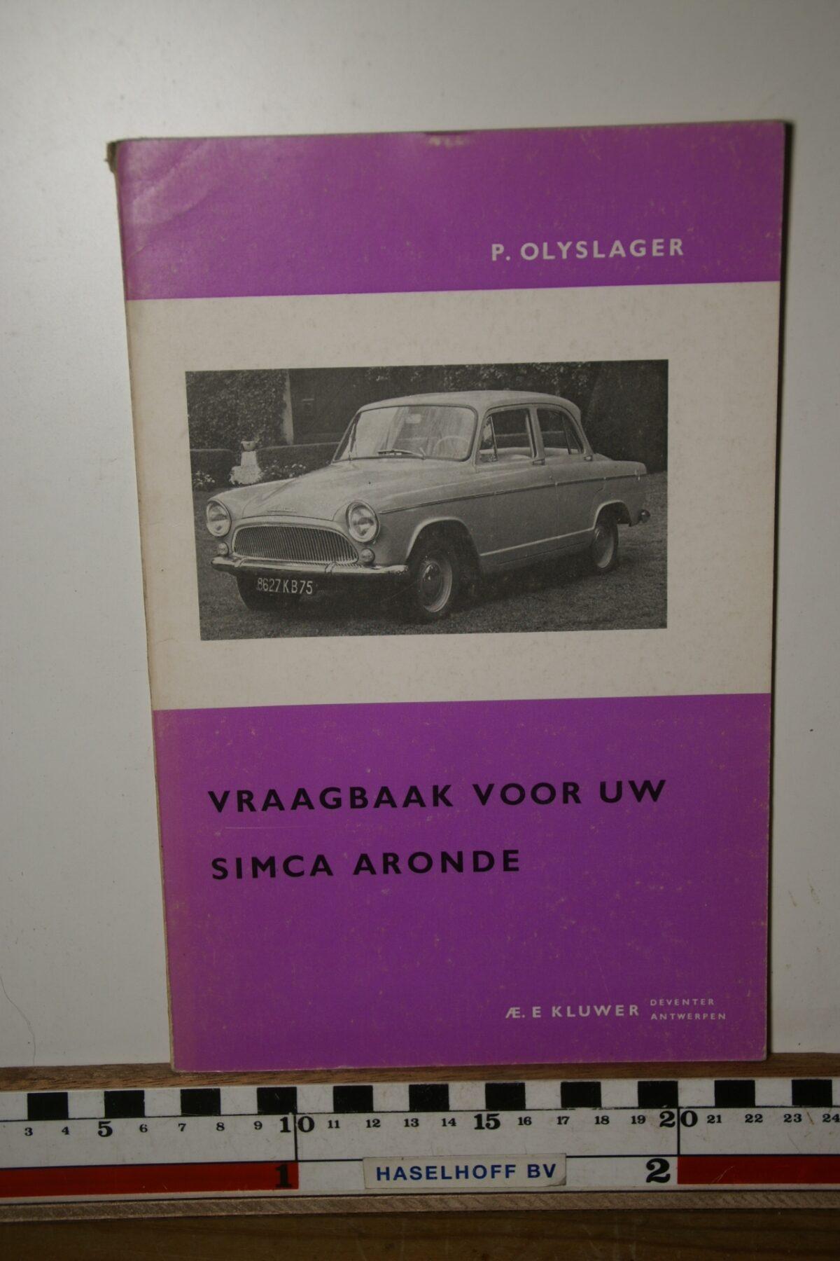 Olyslager vraagbaak Simca Aronde 180205-3689-0