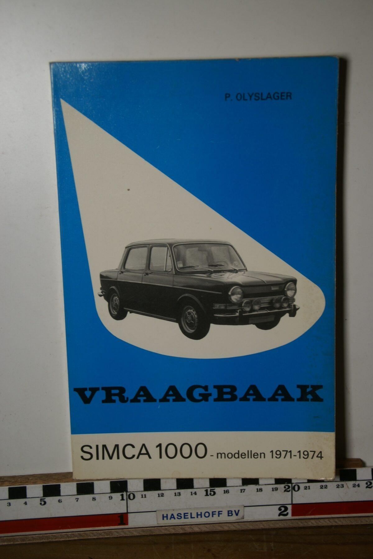 Olyslager vraagbaak Simca 1000 180205-3691-0