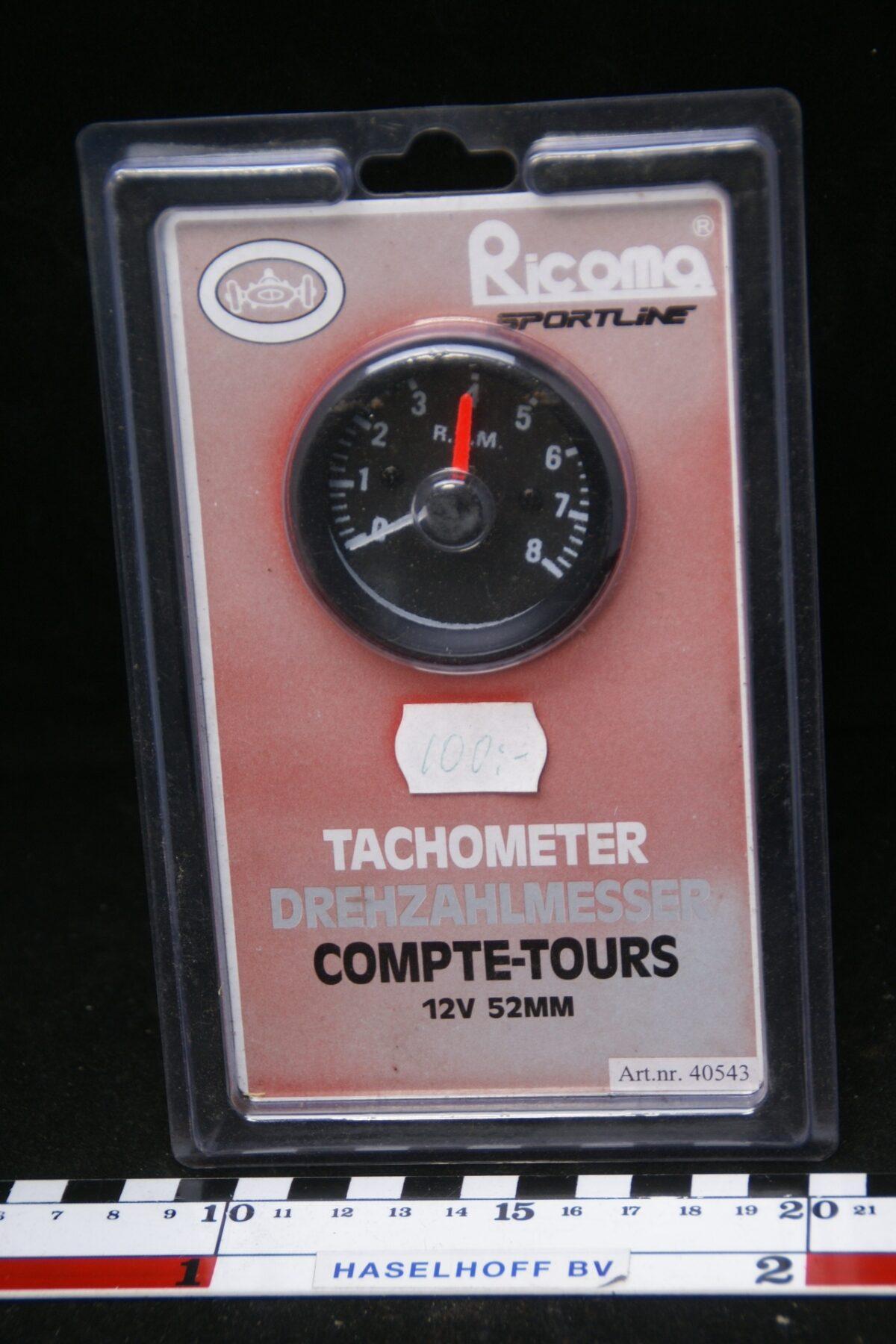 toerenteller 12V 52mm NOS in box 160413-4005-0