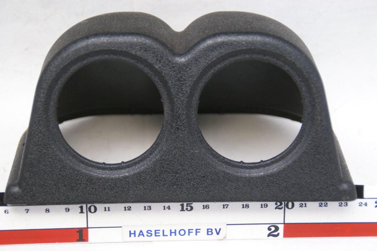 paneeltje zwart opbouw voor montage 2 klokjes 52mm 160413-4022-0