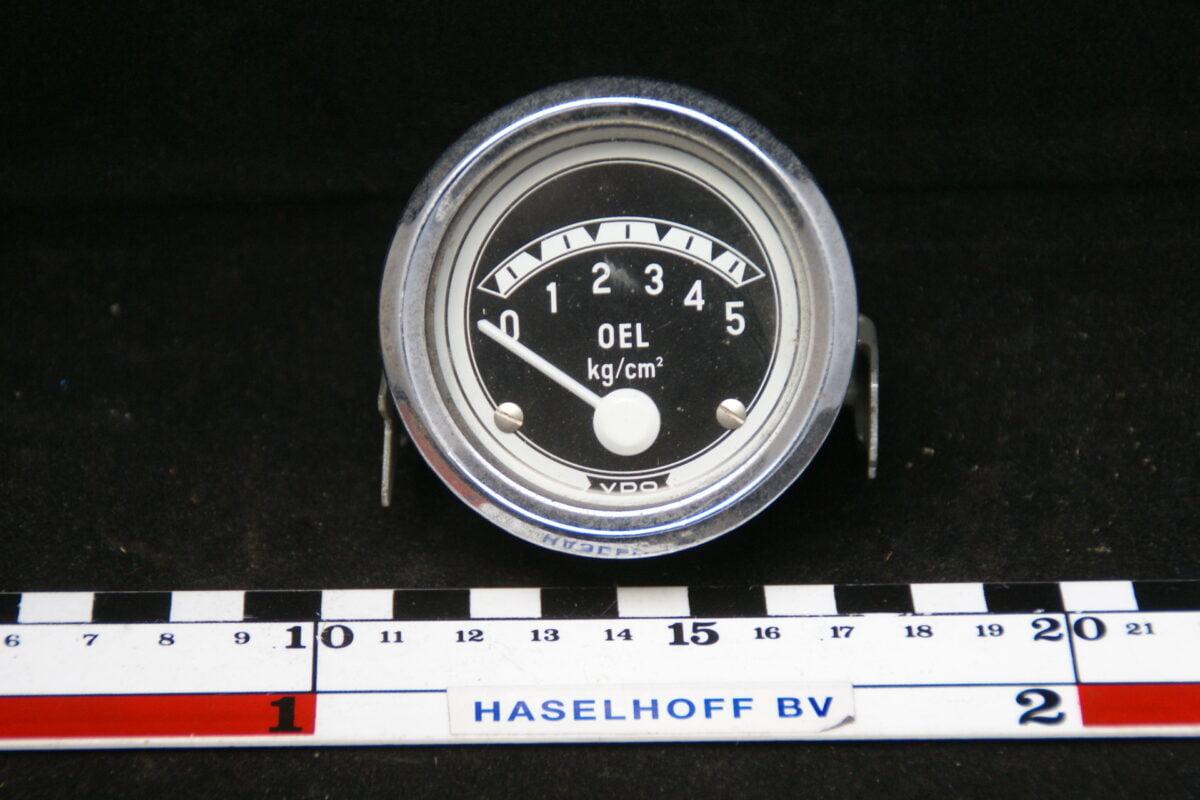 VDO oliedrukmeter met glas en chroomrand 160413-4036-0