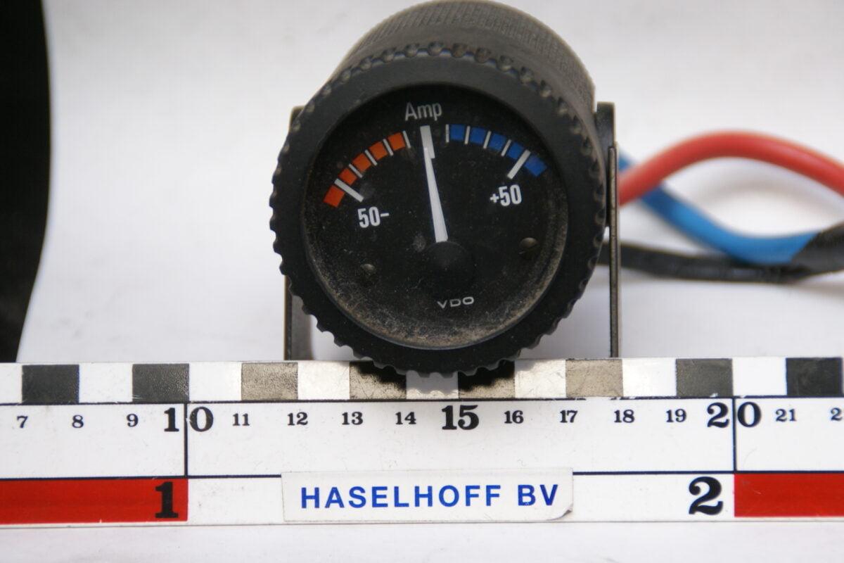 VDO amperemeter met glas en zwart opbouwhuis 160413-4040-0
