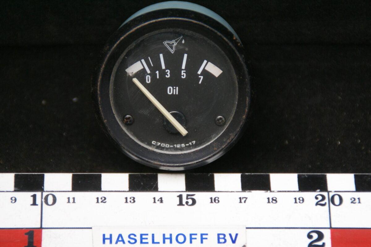 oliedrukmeter met glas en zwarte rand 160413-4046-0