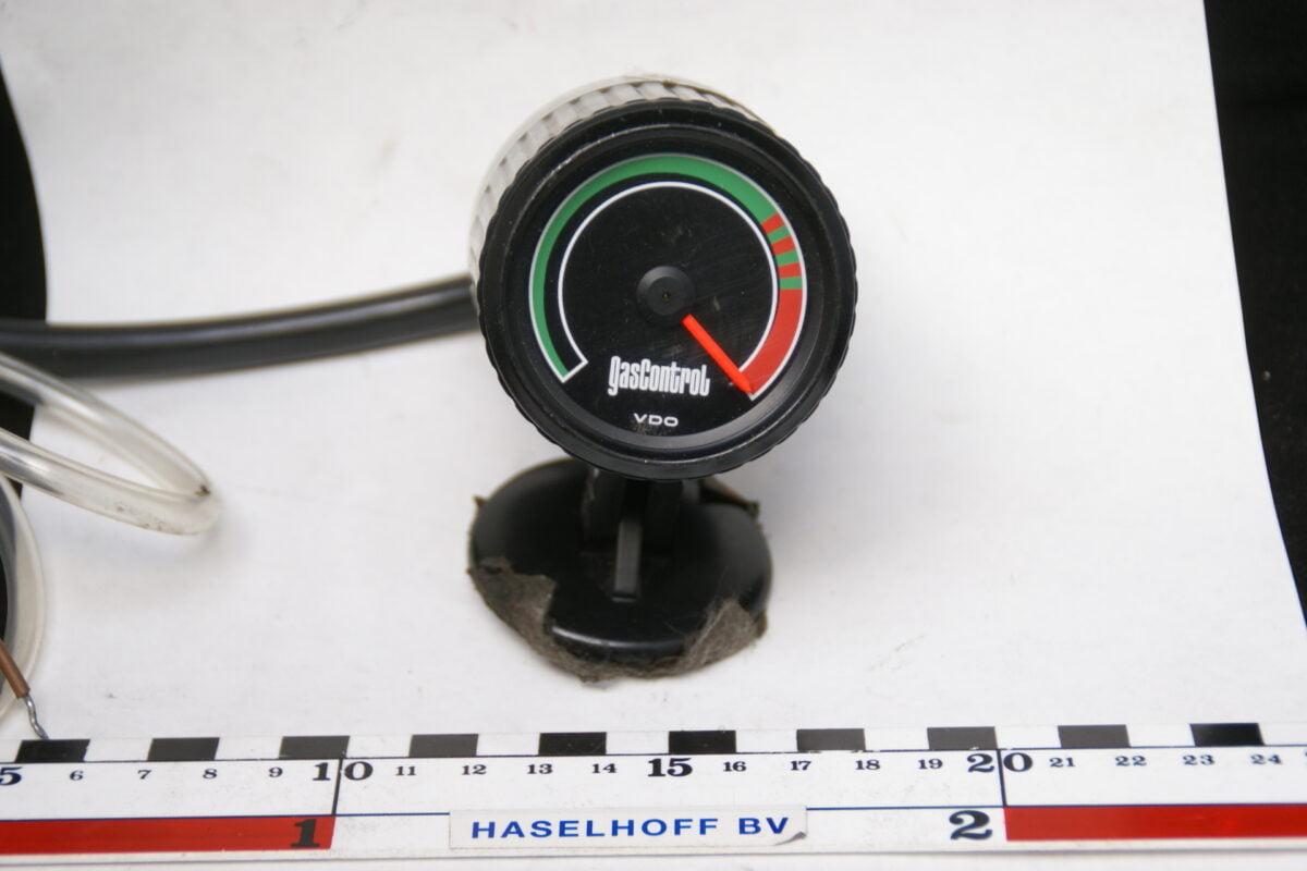 VDO vacuummeter met glas en zwarte rand opbouw 160413-4050-0