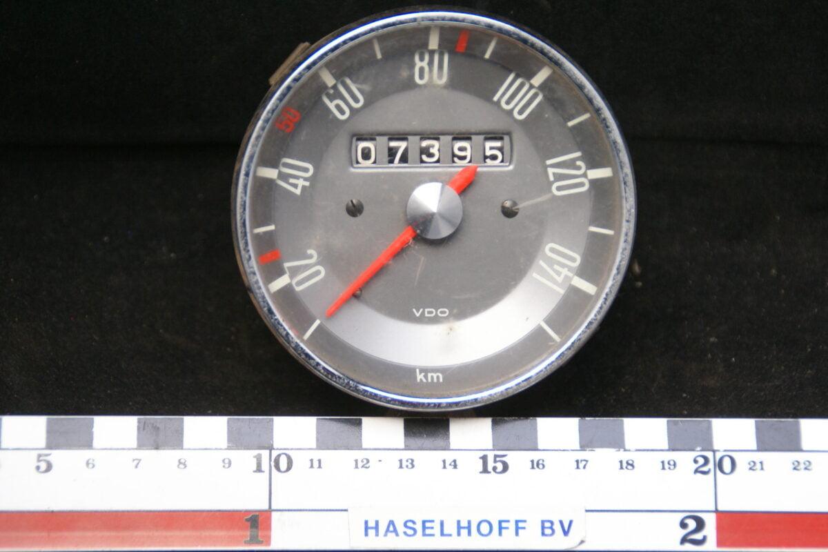 VDO snelheidsmeter met telwerk met glas en chroomrand ca 80mm 160413-4058-0