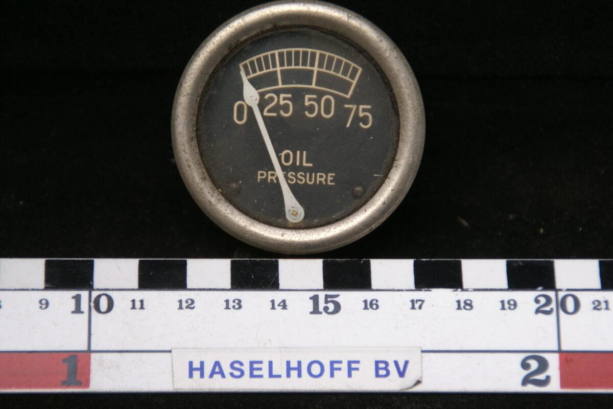 oliedrukmeter met glas en chroomrand 160413-4060-0