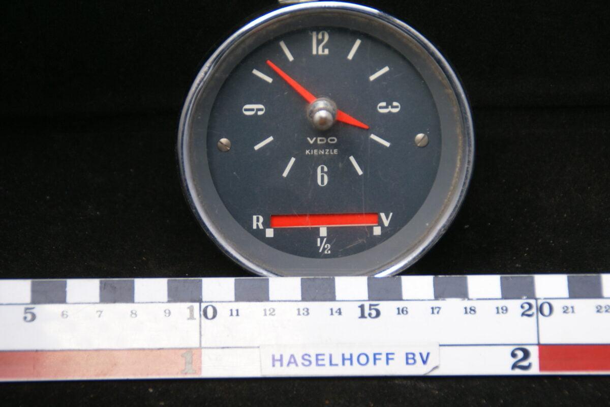 VDO kloken brandstofmeter met glas en chroomrand 160413-4072-0