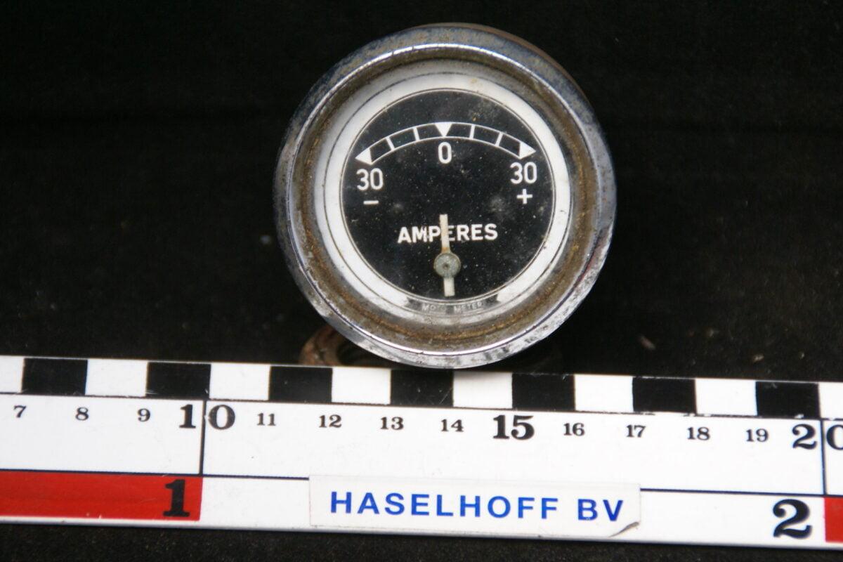 amperemeter met glas en chroomrand 160413-4073-0