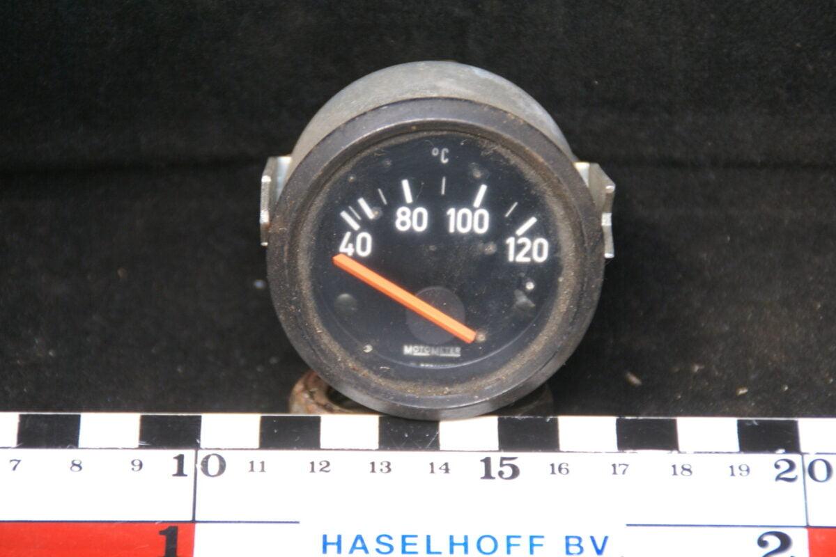 MOTOMETER temperatuurmeter met glas en zwarte rand 160413-4074-0