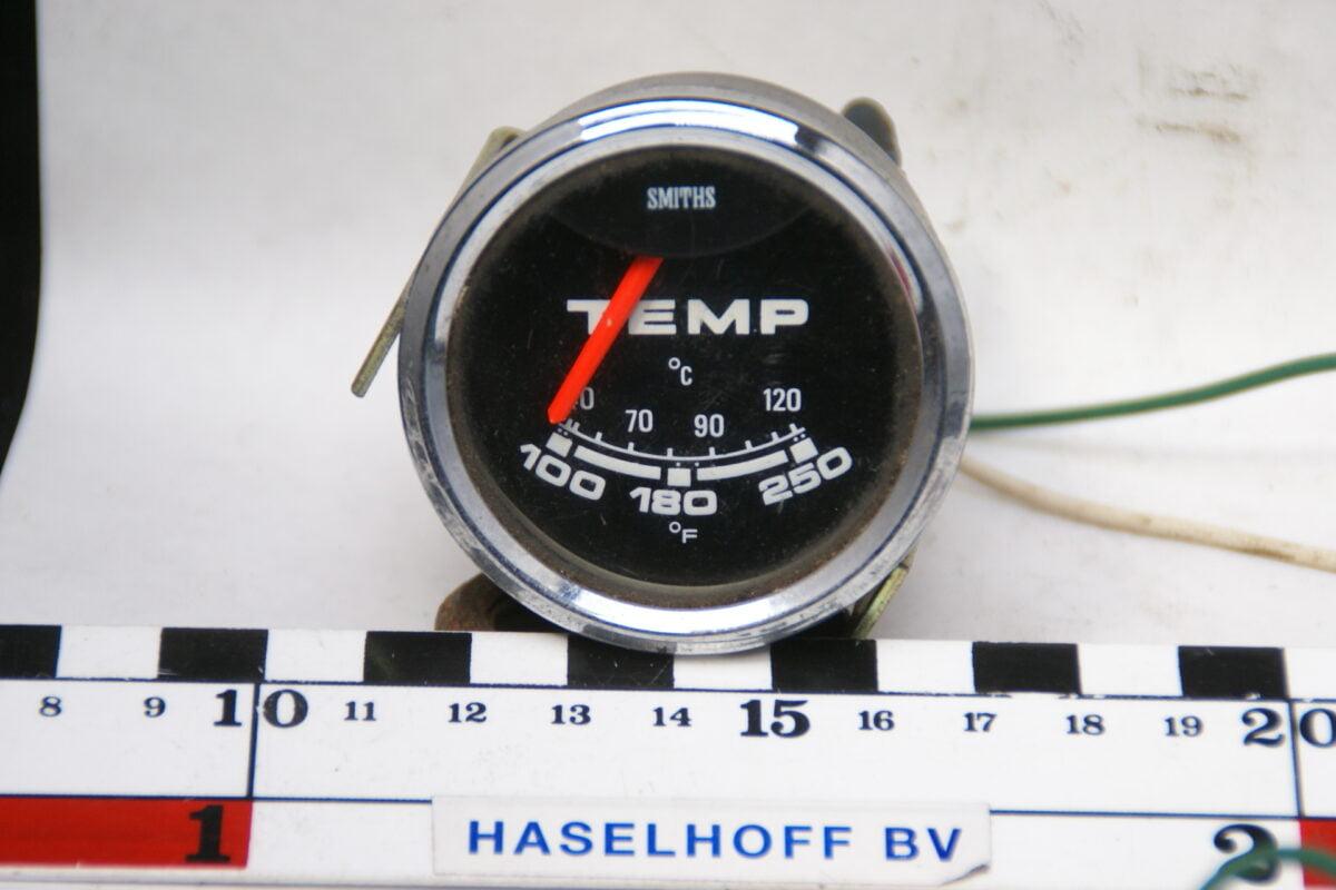 SMITHS temperatuurmet met glas en chroomrand 160413-4079-0