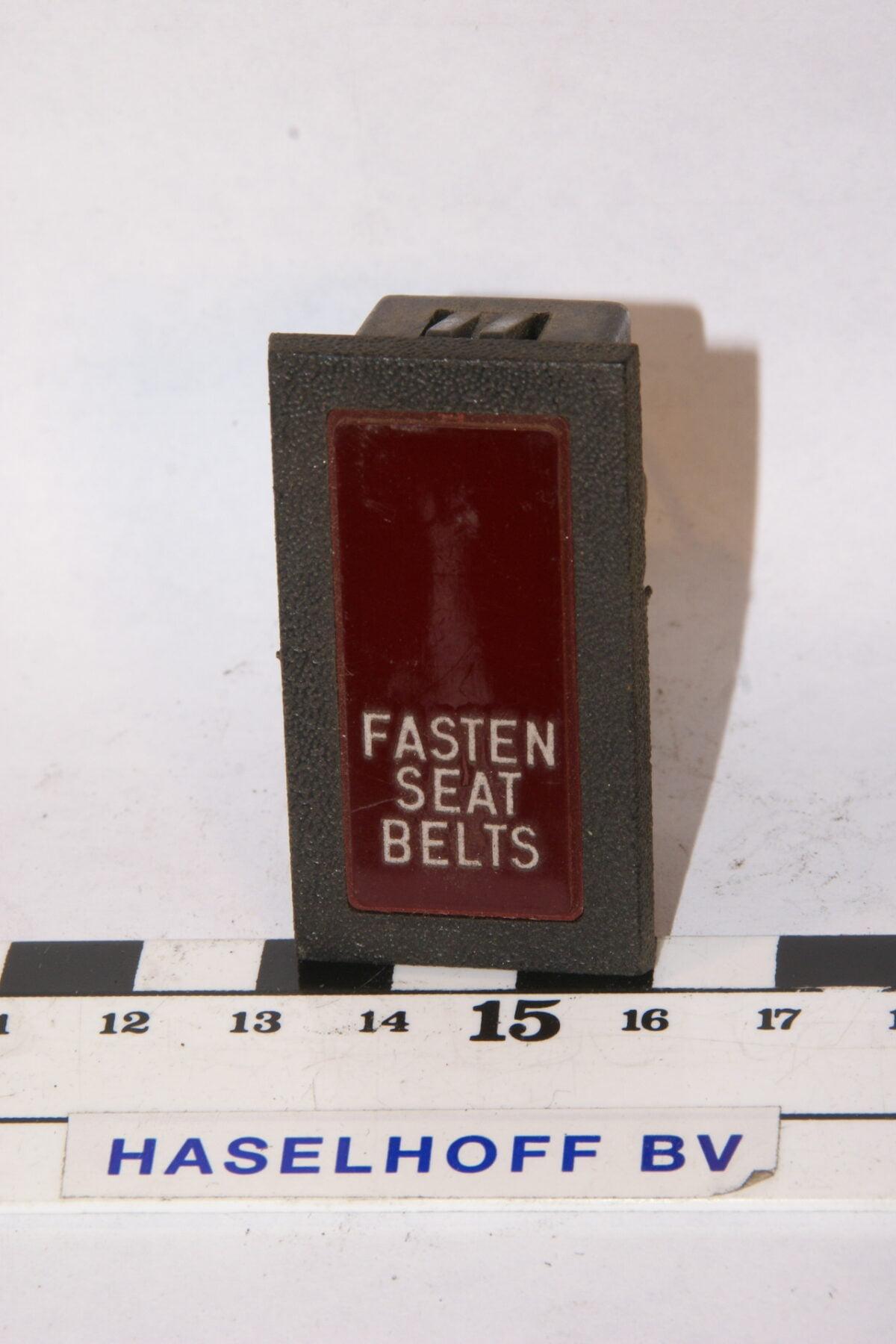 lamp fasten seatbelts 160106-2070-0