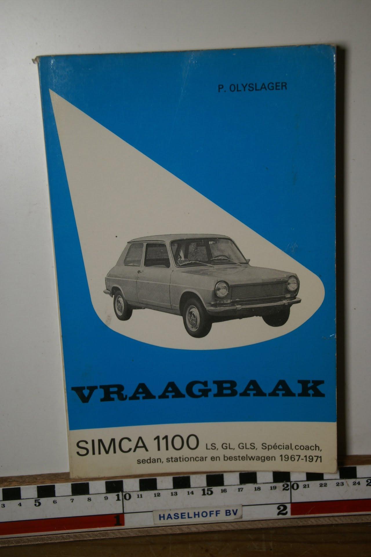 Olyslager vraagbaak Simca 1100 1967-1971-0