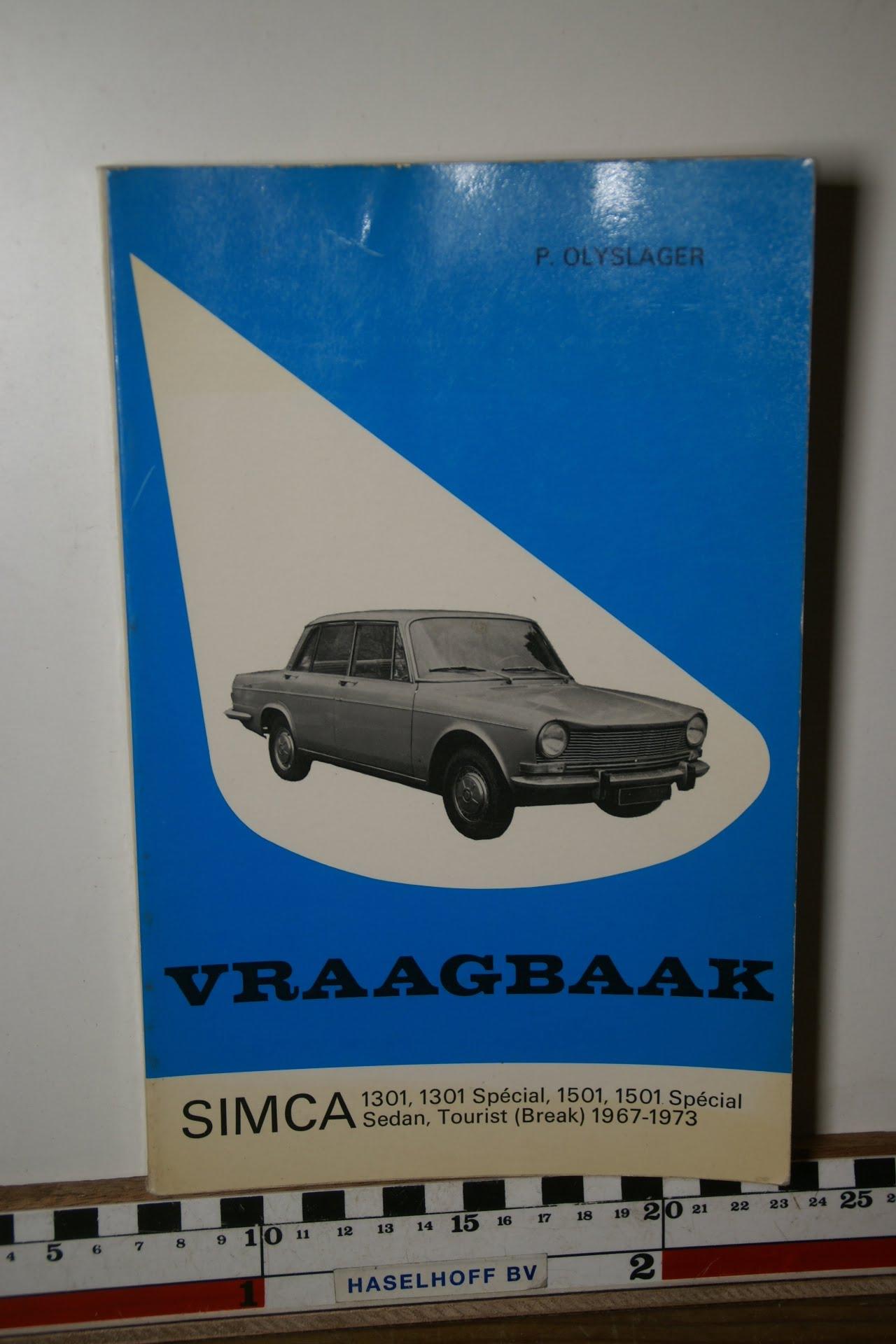 Olyslager vraagbaak Simca 180205-3694-0