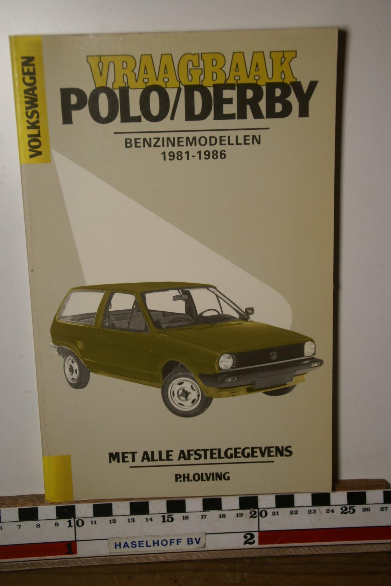 Olving vraagbaak Volkswagen Polo Derby benzine 18005-3700-0