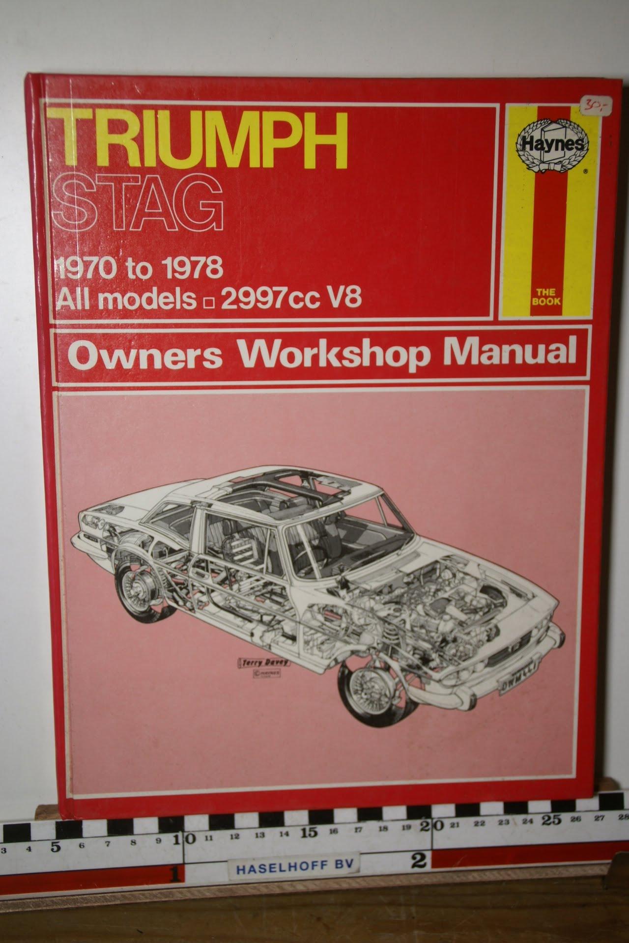 Haynes Triumph STAG Owners Workshop Manual 180205-3705-0