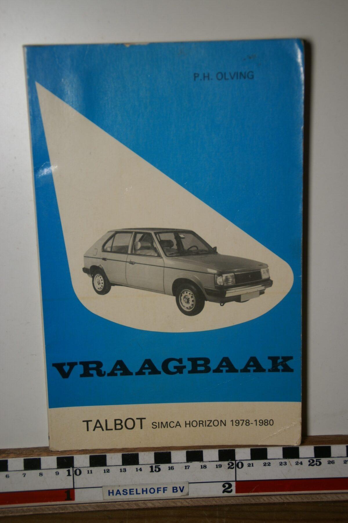 Olving vraagbaak Talbot Simca Horizon 180205-3707-0