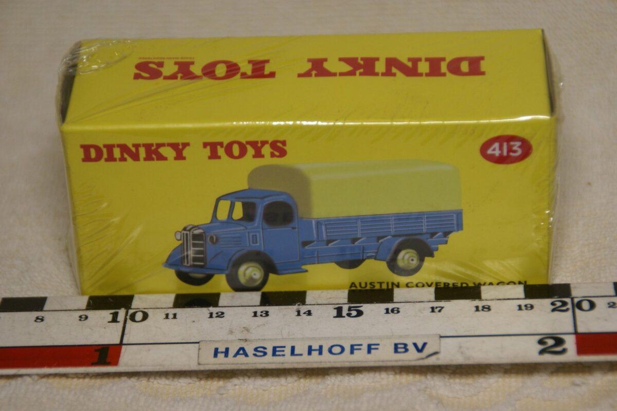 DSC08662 Austin huifwagen blauw 1op43 Atlas Dinky Toys 4677104 MB