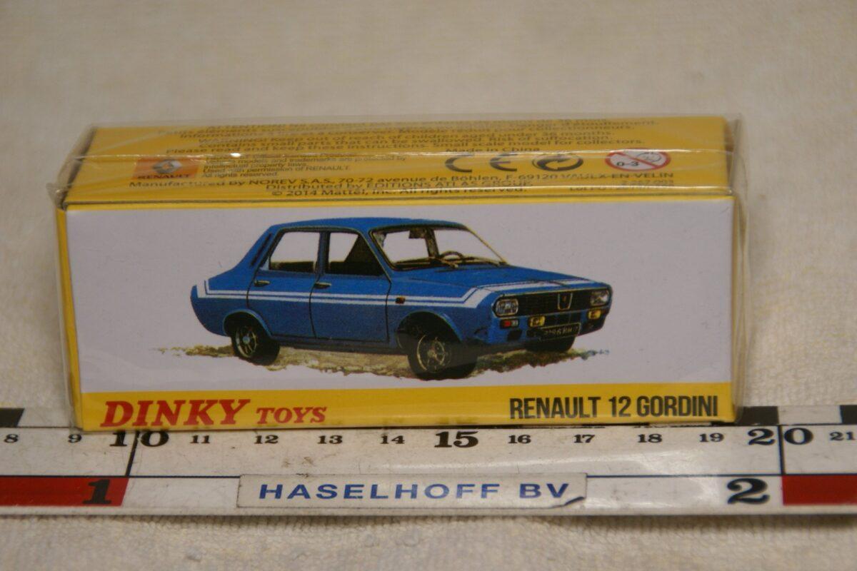 DSC08668 Renault 12 Gordini blauw 1op43 Atlas Dinky Toys 2267003 MB