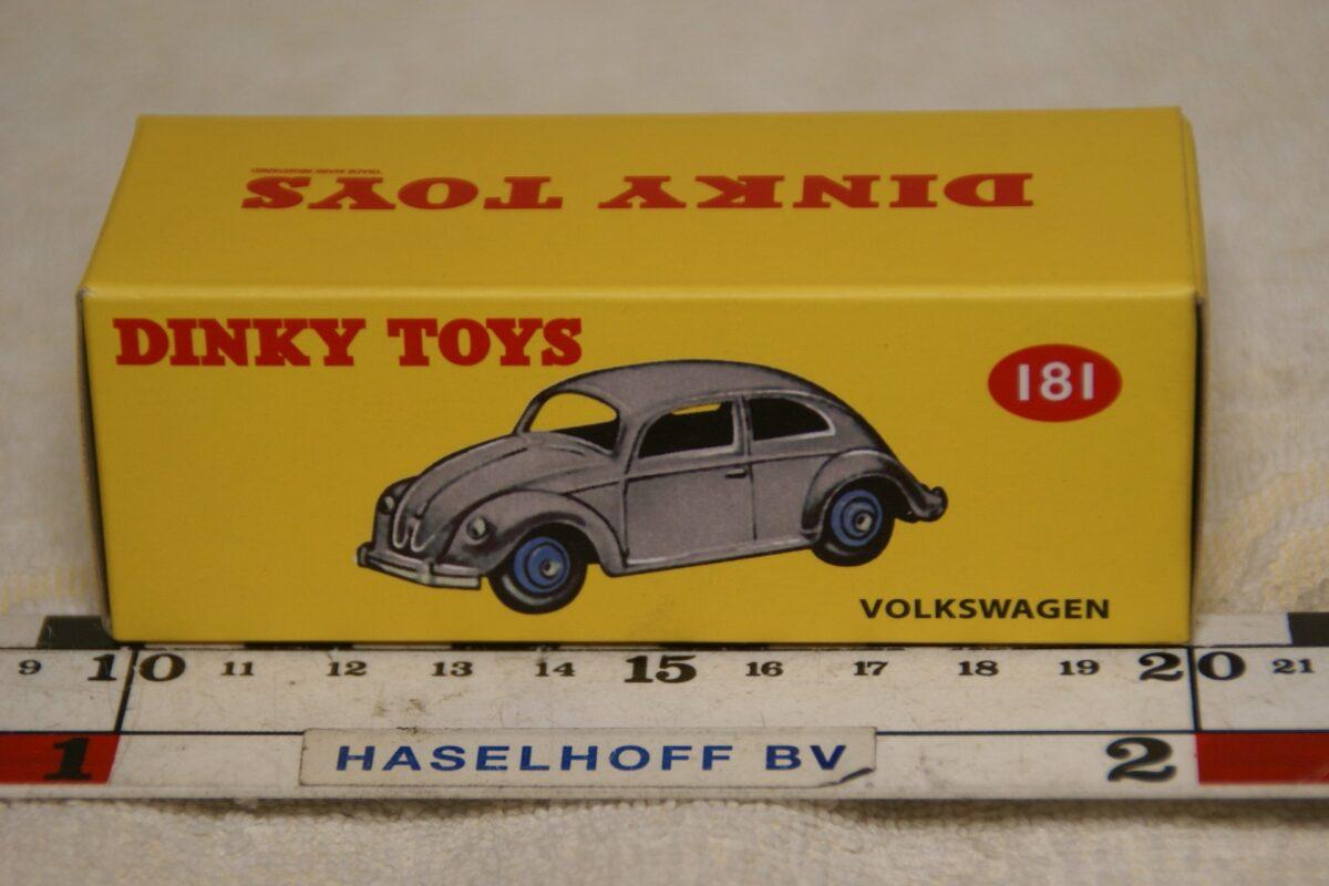 DSC08669 Volkswagen kever ovaaltje blauw 1op43 Atlas Dinky Toys MB