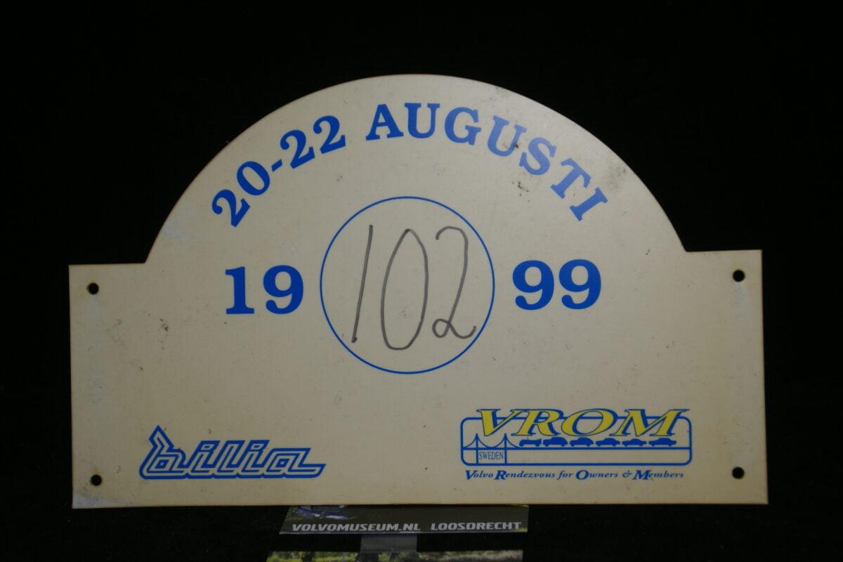 DSC03022 Volvo rallyschild 1999 VROM