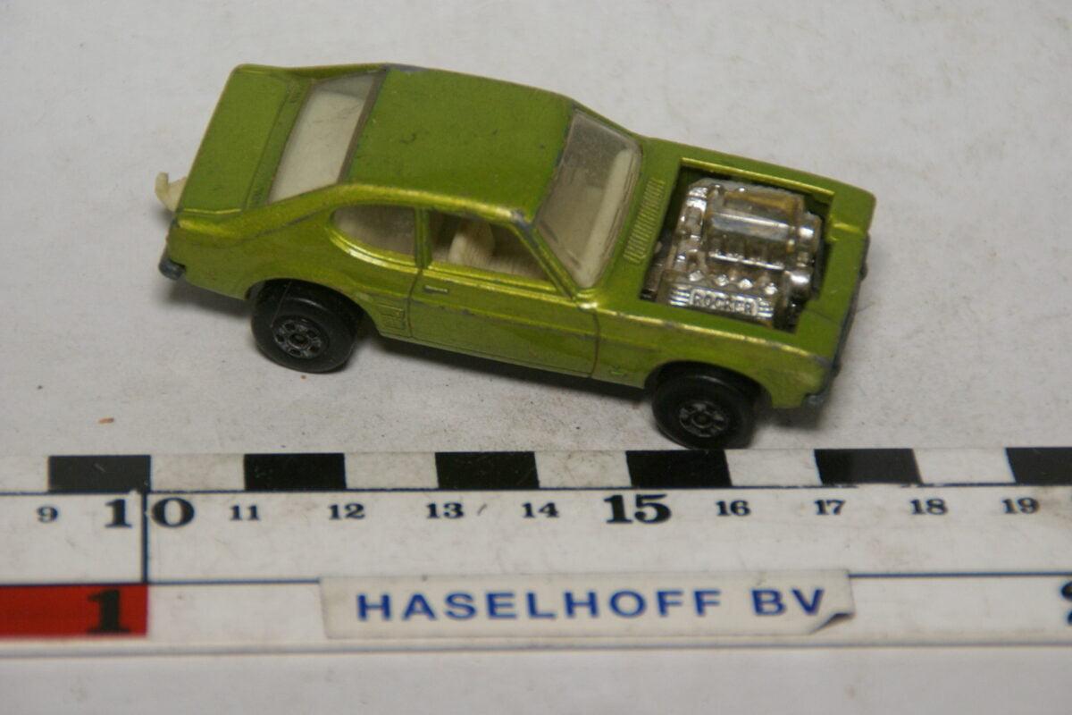 DSC07878 miniatuur 1975 Ford Capri groen ca 1op70 Matcbox nr 87