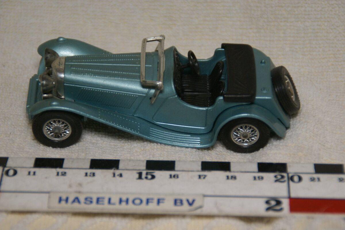 DSC08604 miniatuur 1936 Jaguar SS100 blauw ca 1op43 Matchbox Y1 mint