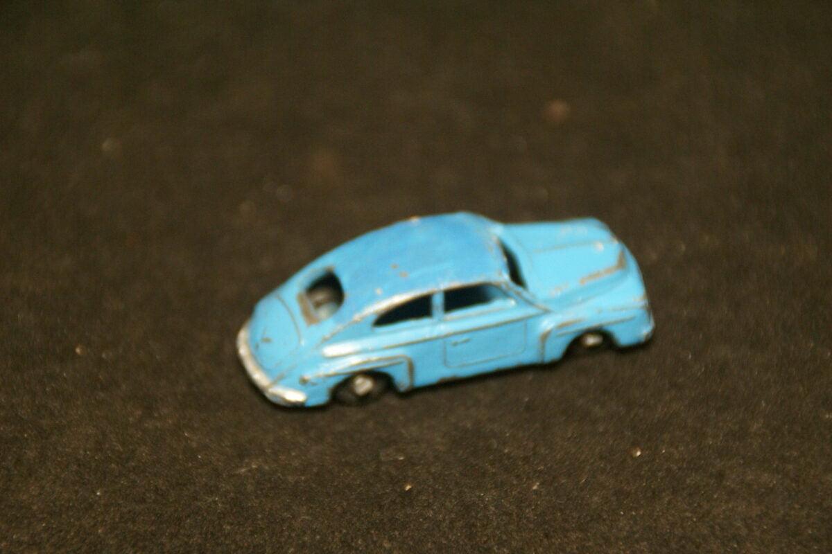 DSC08912 miniatuur Volvo katterug 544 blauw metaal Japan ca 1op87 zeldzaam! goede staat