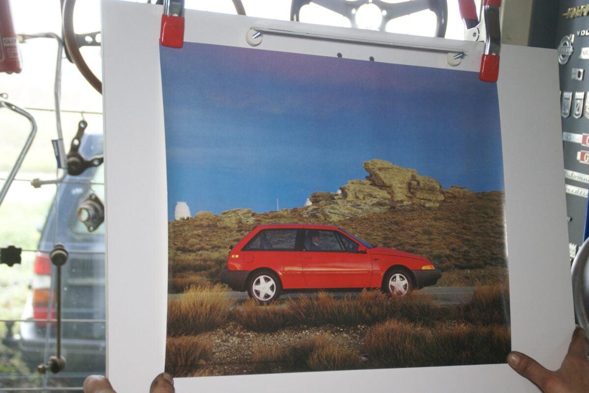 DSC02187 1986 Volvo 480ES rood poster ASPCARBV2611