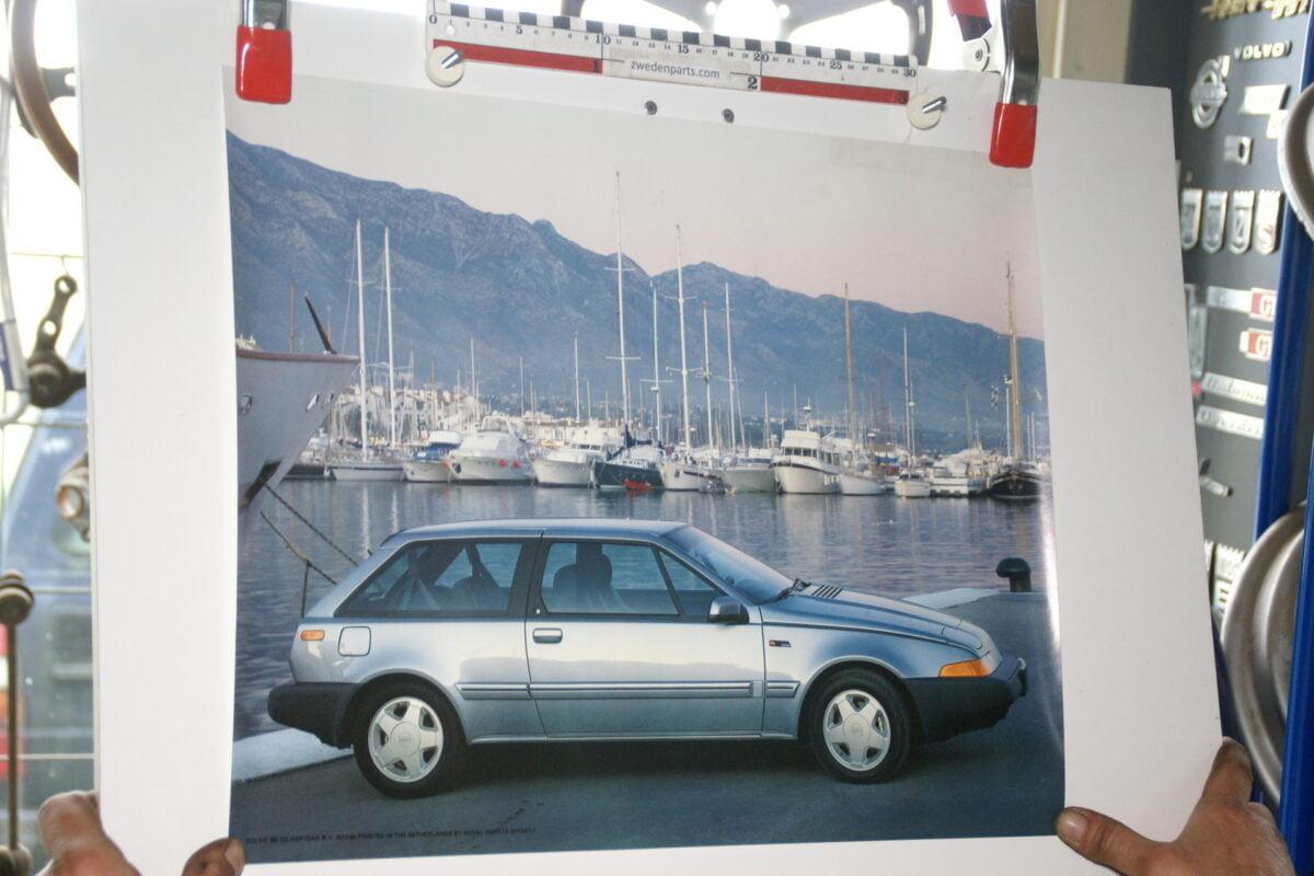 DSC02191 1986 Volvo 480ES blauw poster ASPCARBV2612