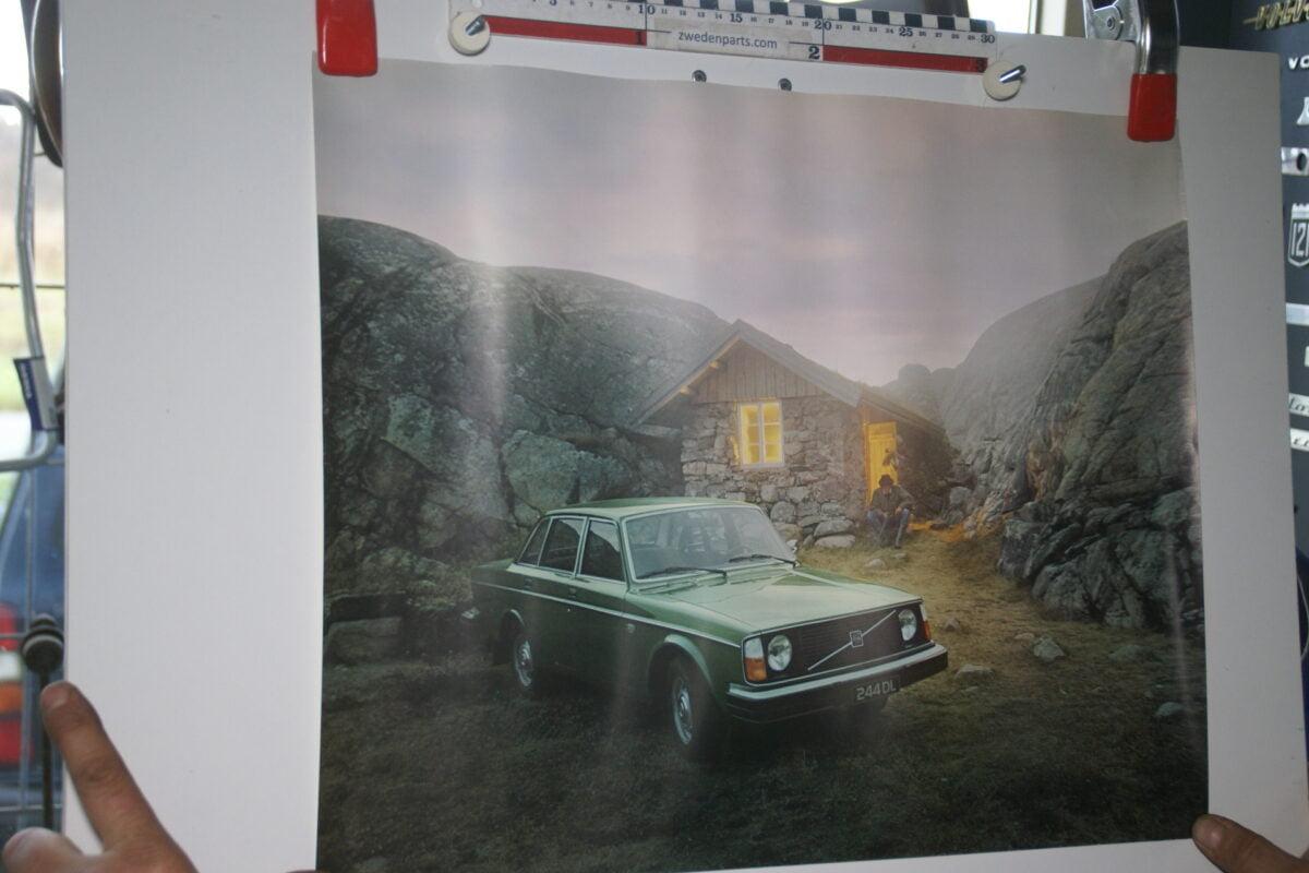 DSC02295 Volvo 244 groen poster