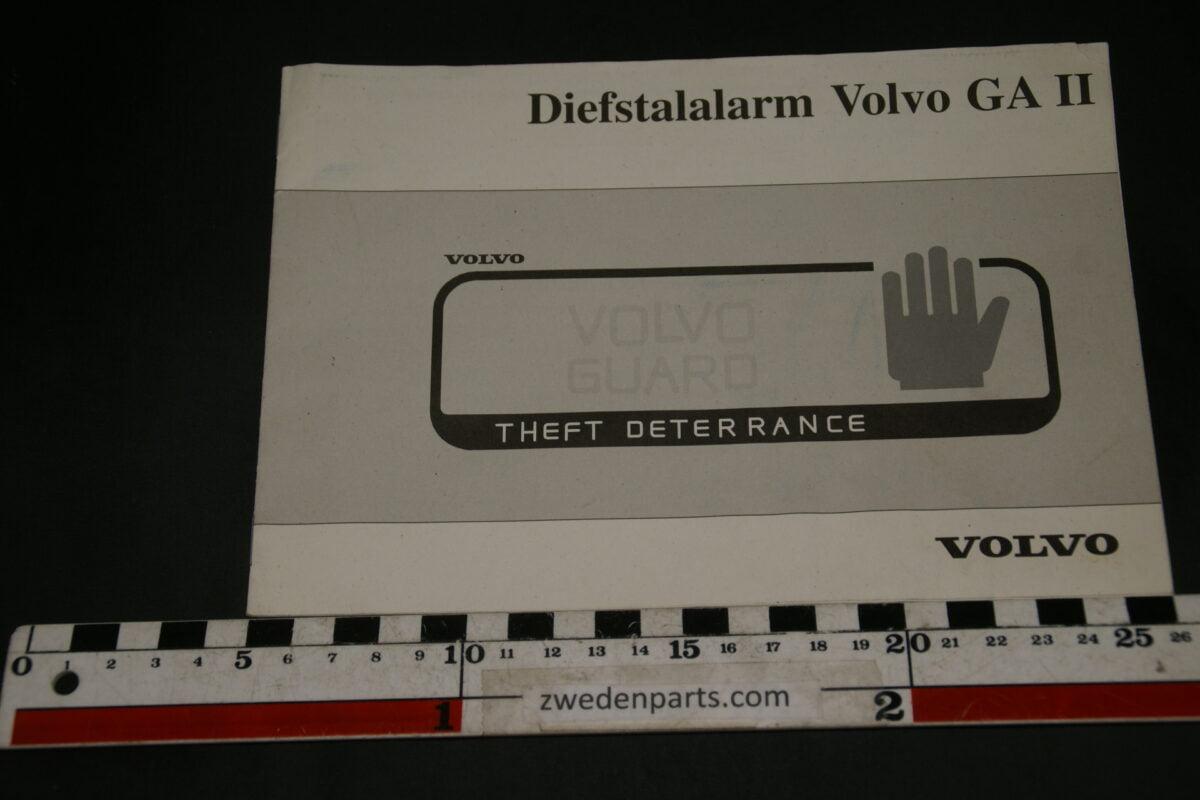 DSC02398 1995 instructieboekje alarm Volvo GAII 9172048