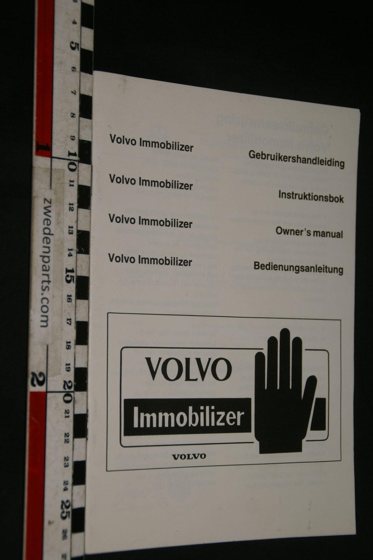 DSC02404 instructieboekje immobilizer Volvo 3497402