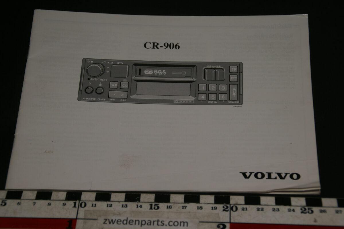 DSC02406 instructieboekje Volvo radio CR906 8Z1K194