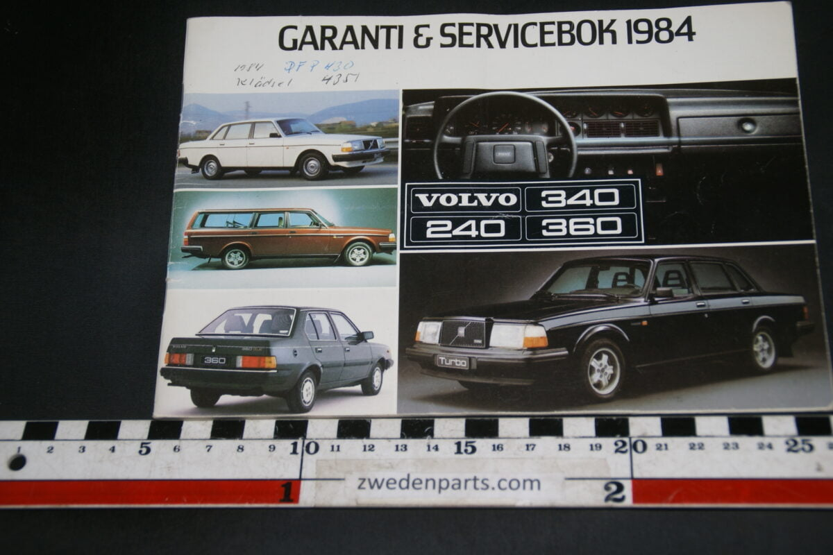 DSC02412 1984 Volvo serviceboekje VB.E598