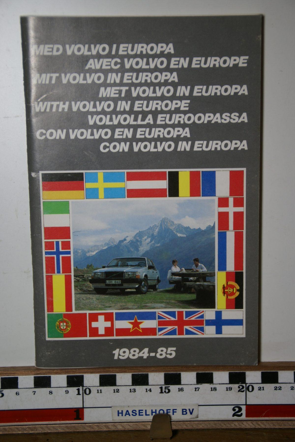 DSC02444 1984 boekje Met Volvo in Europa 1984 1985 PRPV840302