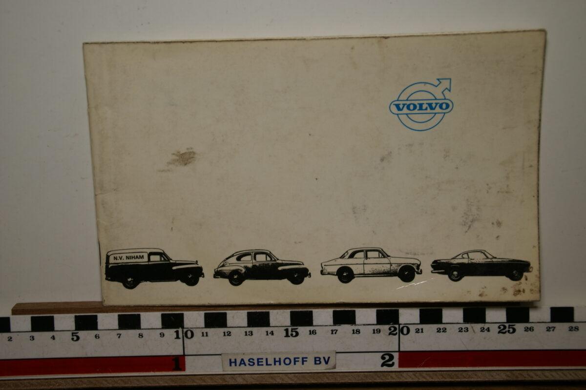 DSC02479 boekje van Volvo Nederland met alle typen ca 1964