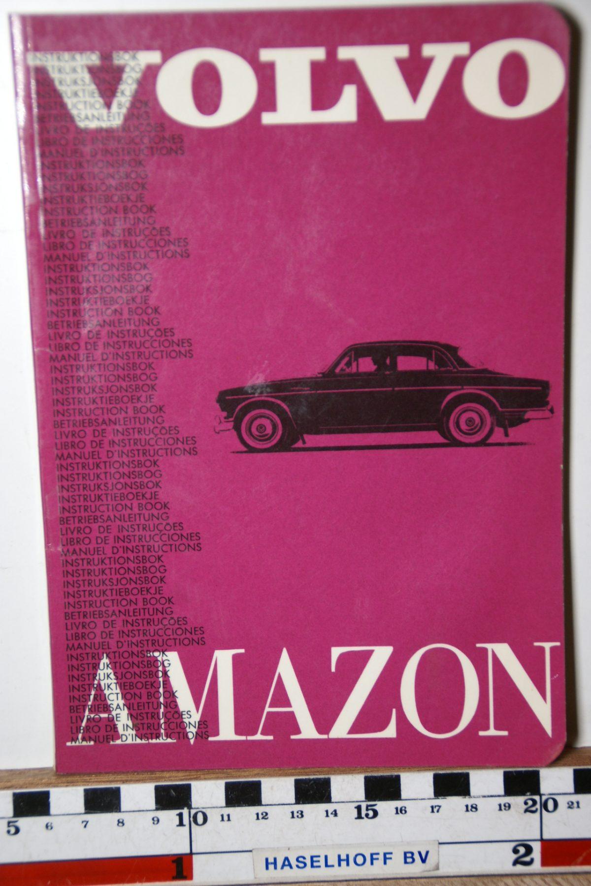 DSC02499 1963 instructieboekje Volvo Amazon TP12.5