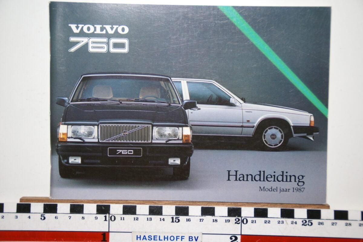 DSC02523 1987 instructieboekje Volvo 760 TP2774 1 van 1700