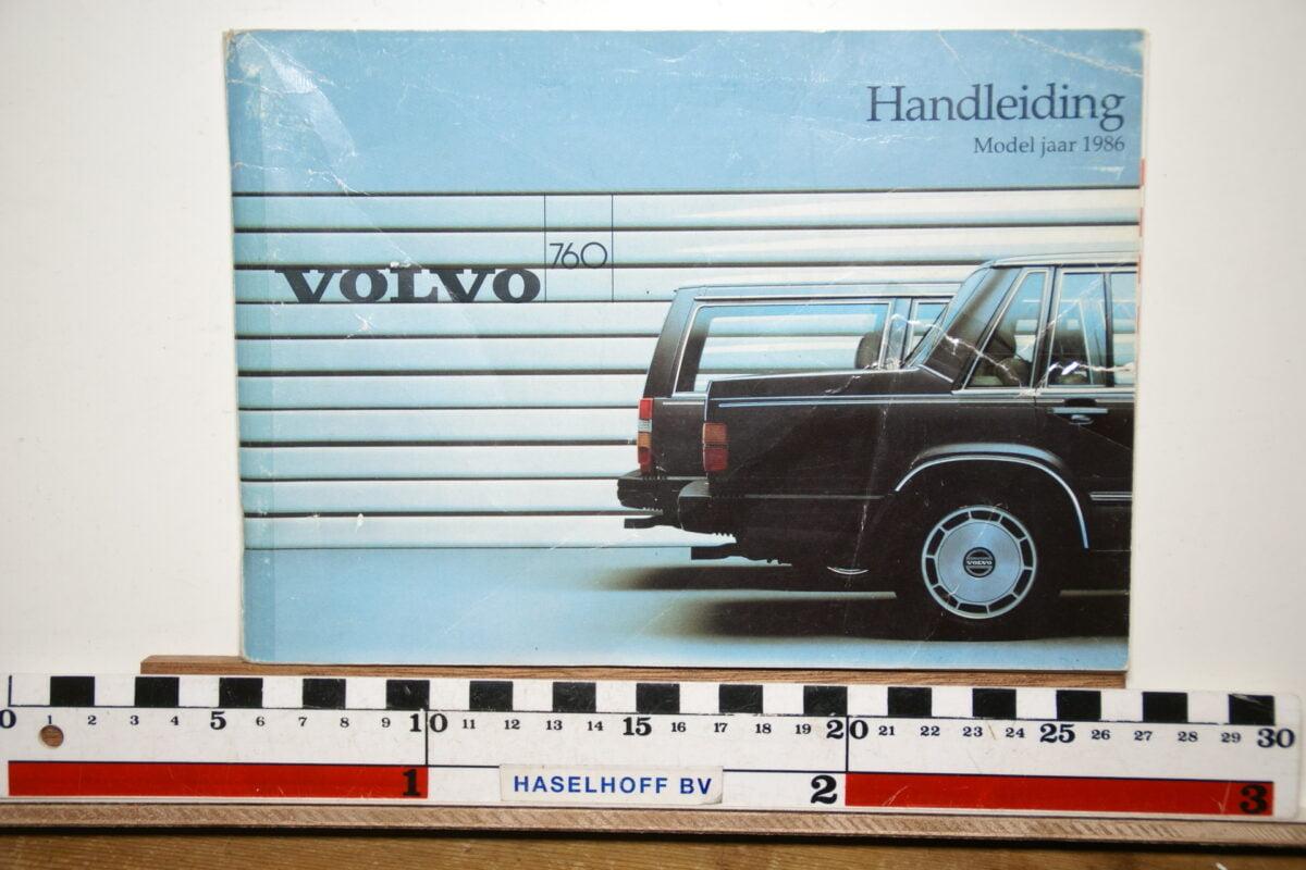 DSC02527 1986 instructieboekje Volvo 760 TP2647 1 van 1700